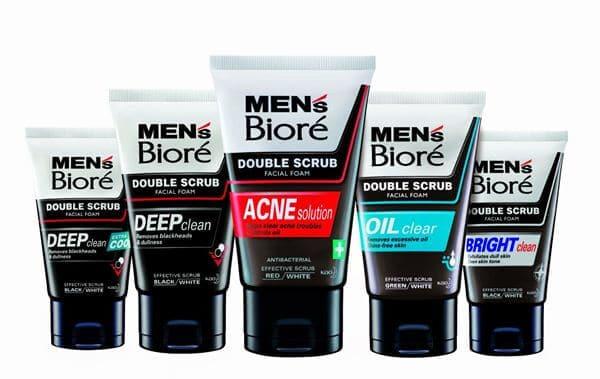 Biore Men's Facial Foam Double Scrub