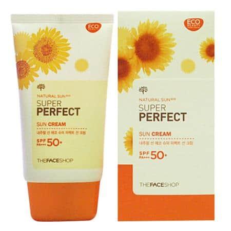 The Face Shop Natural Sun AQ Super Perfect Sun Cream SPF 50+ PA+++