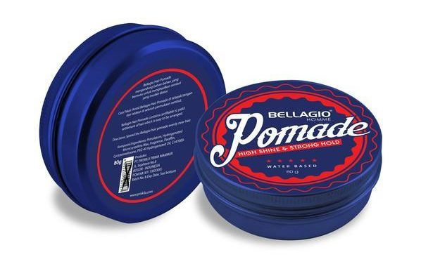 merk pomade yang bagus_Bellagio Pomade High Shine & Strong Hold (Copy)