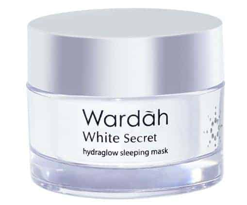 produk wardah untuk memutihkan wajah_white secret hydraglow sleeping mask