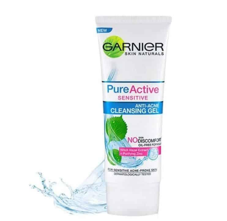 merk sabun untuk kulit sensitif_Garnier Sensitive Anti-Acne Cleansing Gel (Copy)