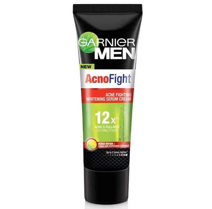pelembab wajah untuk pria_Garnier Men Acno Fight Whitening Serum Cream (Copy)