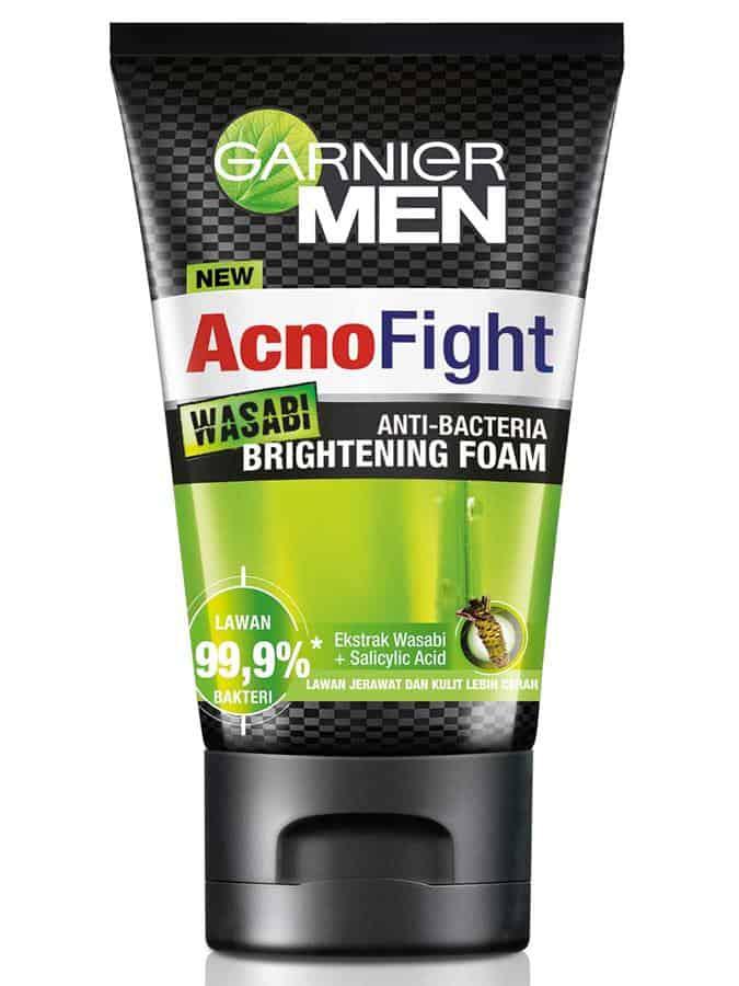 pembersih wajah untuk pria_Garnier Men Acno Fight Wasabi Brightening Foam (Copy)