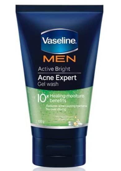 pembersih wajah untuk pria_Vaseline Men Active Bright Acne Expert Gel Wash (Copy)