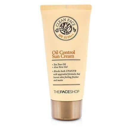 The Face Shop Clean Face Oil Free Sun Cream