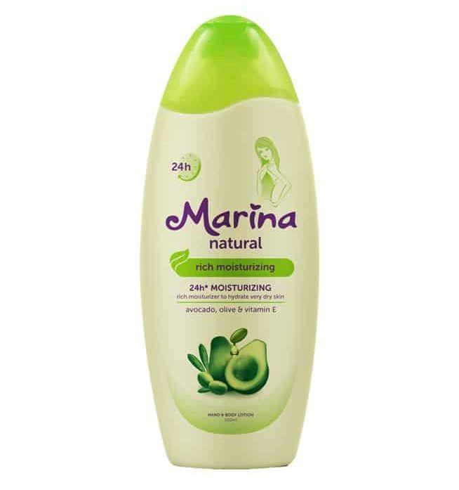 merk body lotion untuk kulit kering_Marina Natural 24H Rich Moisturizing Avocado (Copy)