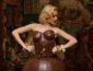 Gaun Pengantin Coklat