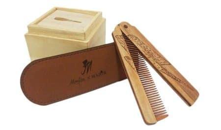 Wooden Major Folding Comb Thunder