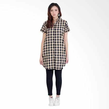 10 Model Baju Tunik Untuk Wanita Gemuk Tahun 2020