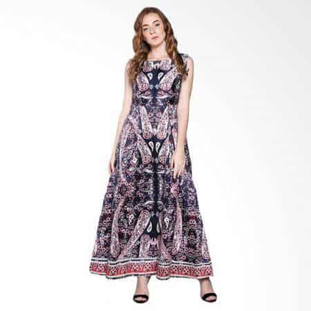 10 Pilihan Model Long Dress Batik Kombinasi Terbaik 2020