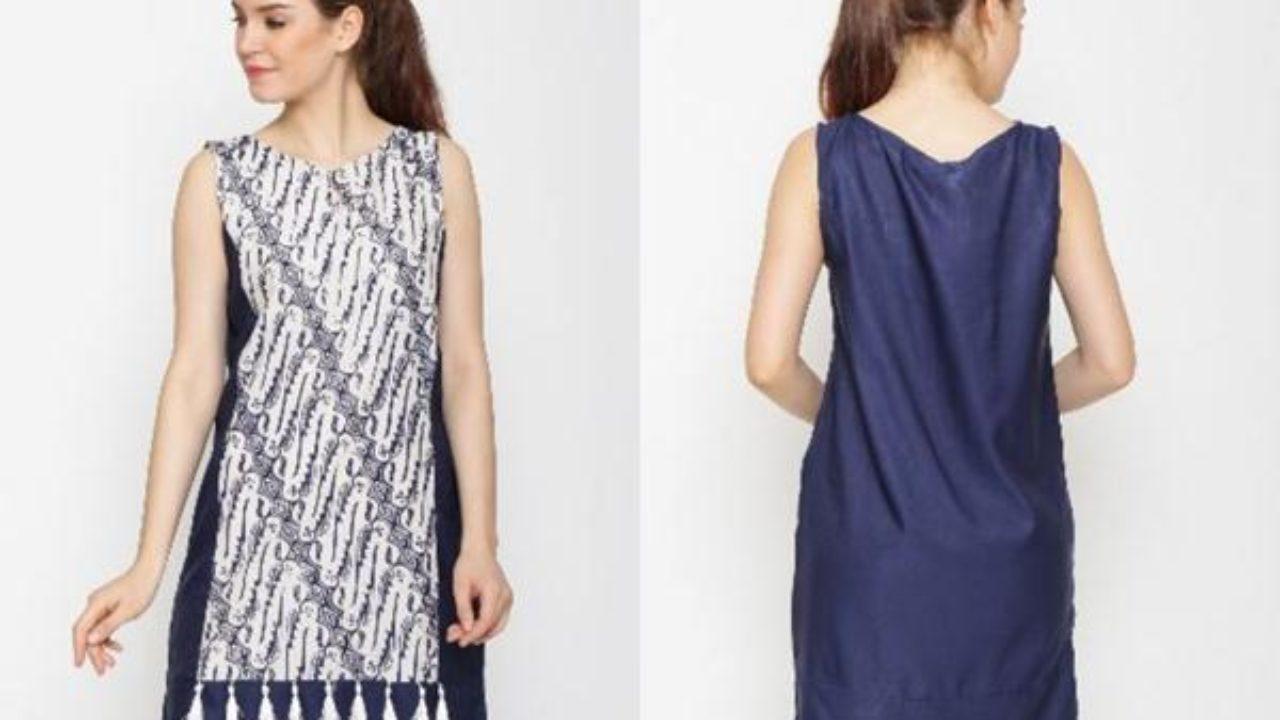 10 Model Dress Batik Terbaru Untuk Orang Gemuk Tahun 2019