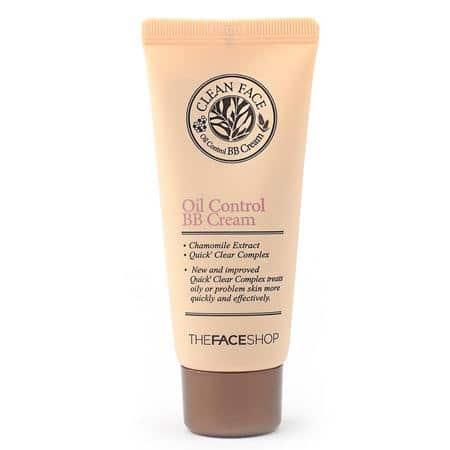 bb cream untuk kulit sensitif The Face Shop Clean Face Oil Free BB Cream