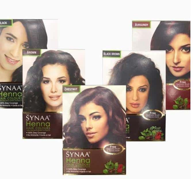 cat rambut yang halal_Synaa Henna Hair Color