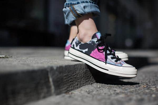 Converse Chuck Taylor All Star Ox: White/Black/Multi Pink (Andy Warhol)