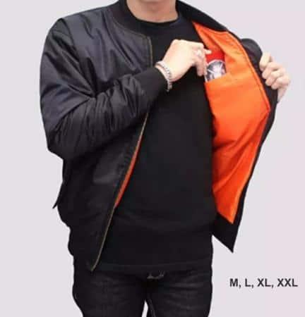 Jaket Bomber style pakaian pria kurus