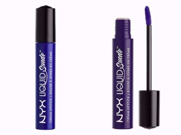 lipstik warna biru NYX Liquid Suede Cream Lipstick