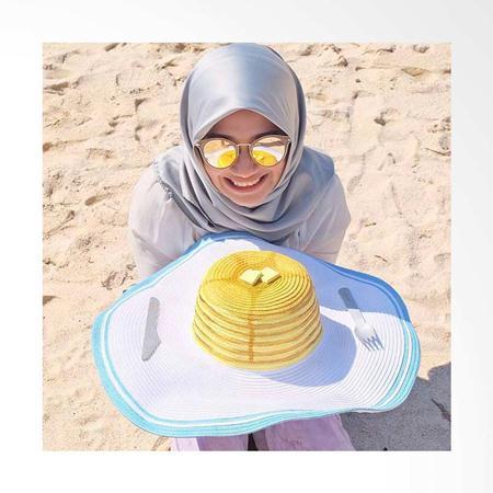 style hijab ke pantai