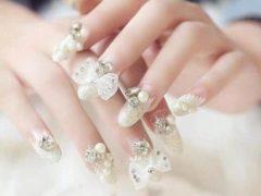 Crystal Nails Bowknot