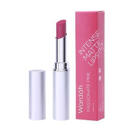lipstik warna pink Wardah Intense Matte Lipstick: Possionate Pink
