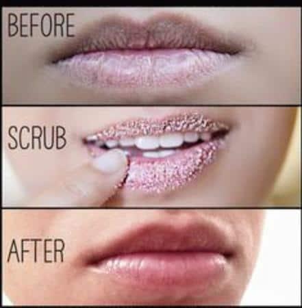 scrub bibir