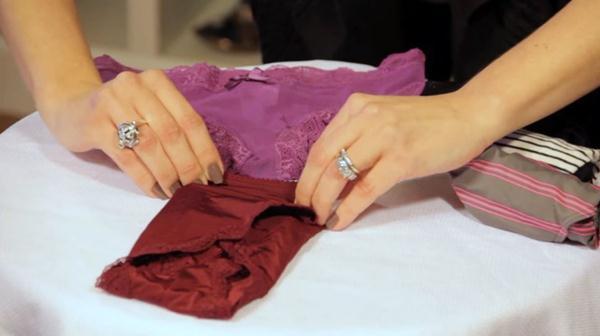 Lipat Kotak cara melipat celana dalam