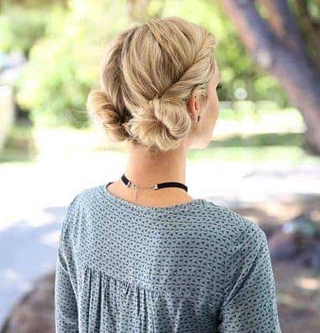 Pigtails Twisted Bun