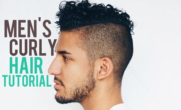 cara menyisir rambut ikal pria