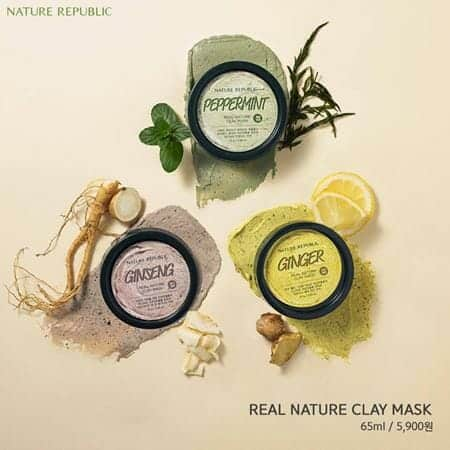 Nature Republic Real Nature Clay Mask (Peppermint)