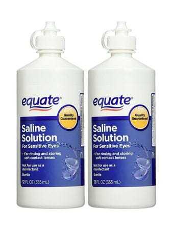Equate Saline Solution for Sensitive Eyes