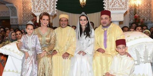Raja Muhammad VI dan Putri Lalla Salma