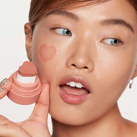 Stamp blush on