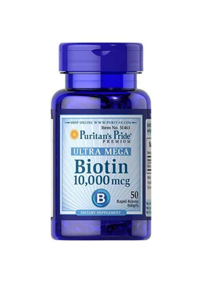 Puritan's Pride Premium Ultra Mega Biotin 10,000 mcg