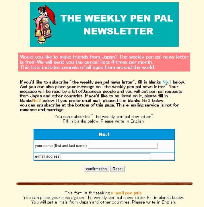 Kawasaki International Weekly Penpal Newsletter