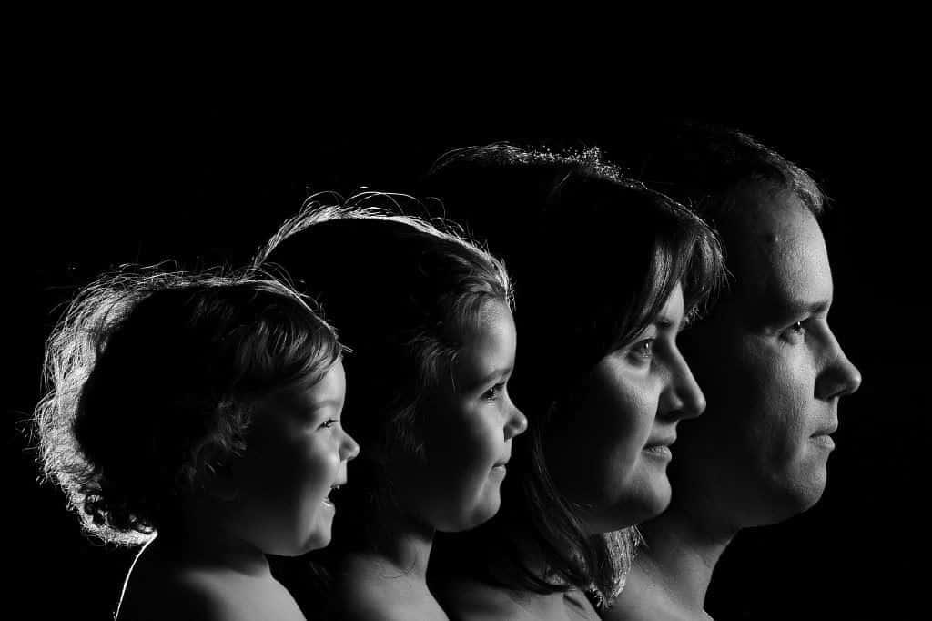 Monochrome Family Portrait