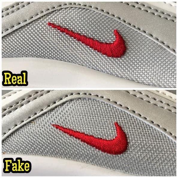 Perhatikan Logo dan Jahitan Sepatu