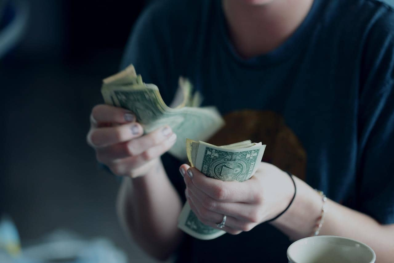 counting money