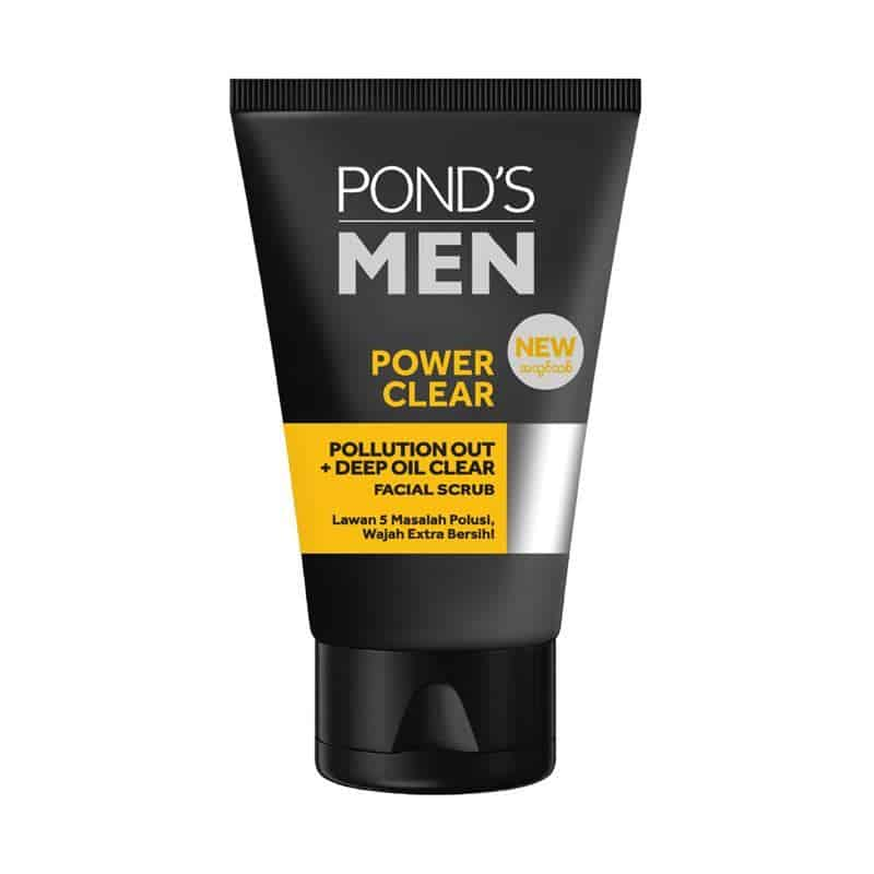 Pond's Men Pollution Out + Deep Oil Clear Facial Scrub