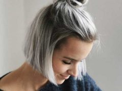 Top-Knot-Bun-Short-Hair-Style
