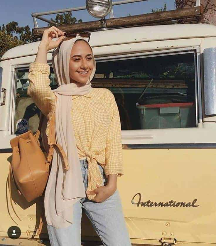 traveling hijab outfit