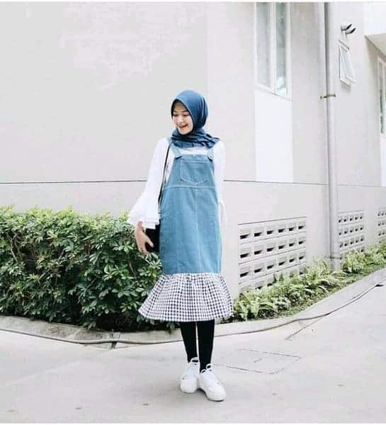 overall jeans tunik