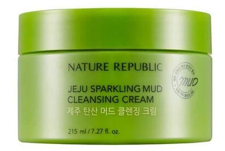 NATURE REPUBLIC Jeju Sparkling Mud Cleansing Cream