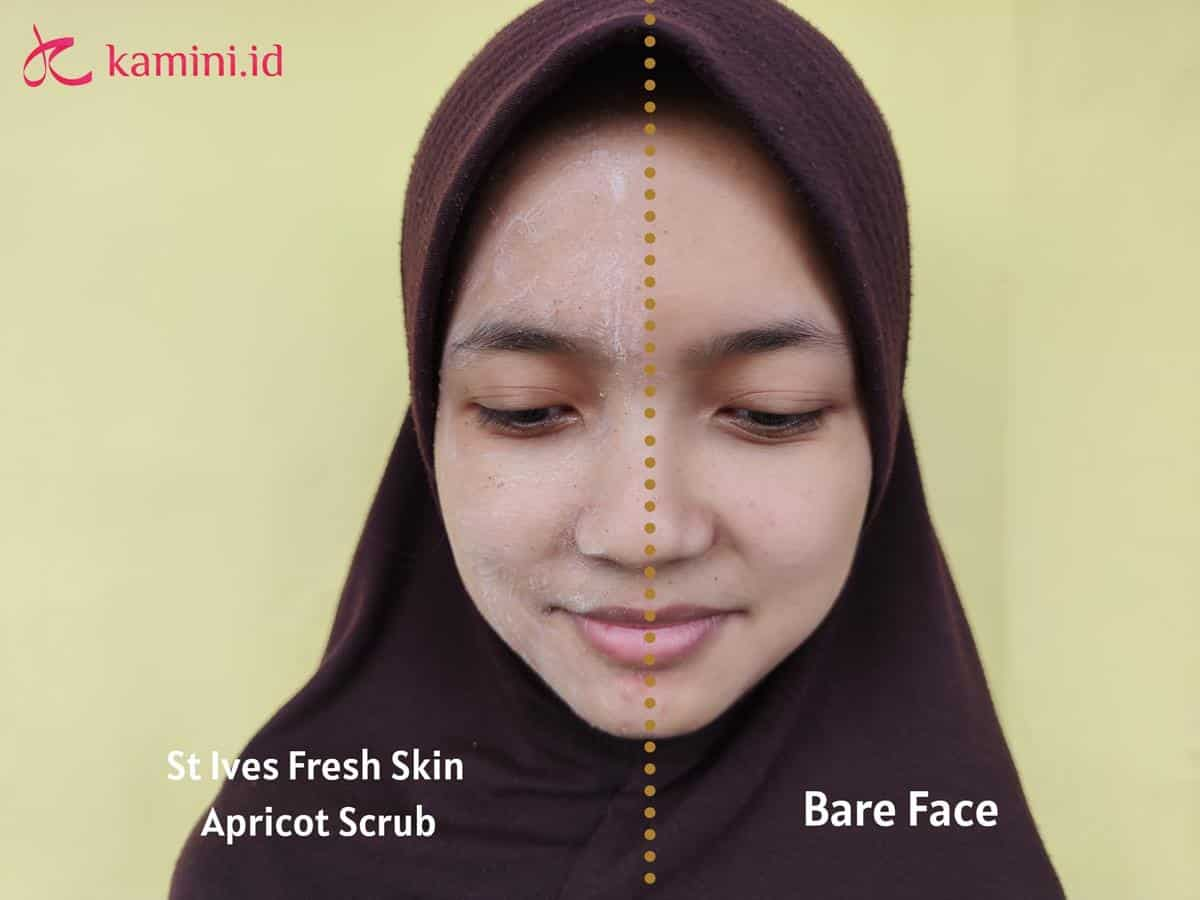 Review St Ives Apricot Scrub_aplikasi (Copy)