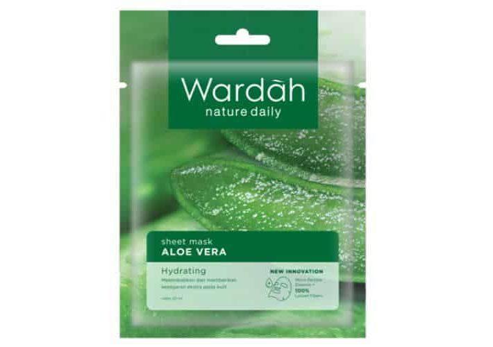 Produk Wardah untuk Kulit Kering_Wardah Nature Daily Sheet Mask Aloe Vera (Copy)