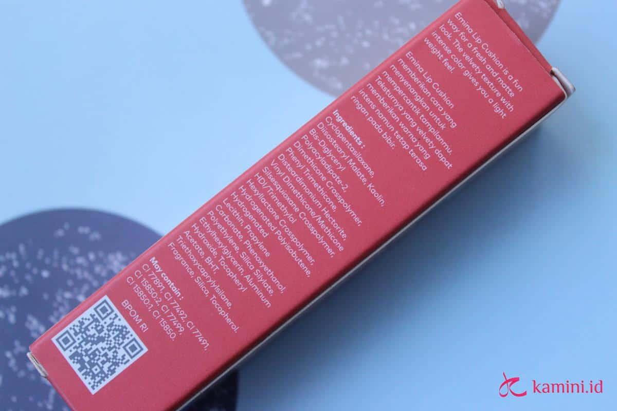 Review Emina Lip Cushion_ingredients (Copy)