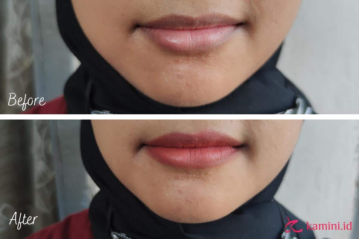 Review Emina Lip Cushion_swatch 1 (Copy)