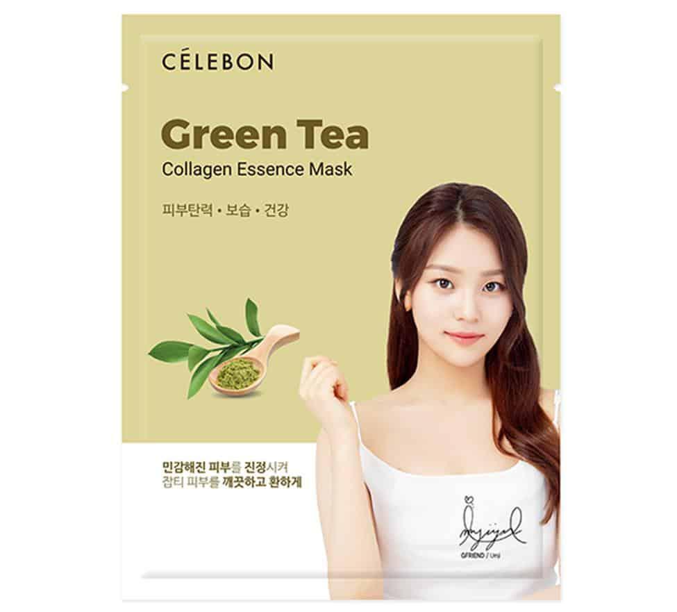 Celebon Green Tea Collagen Essence Mask