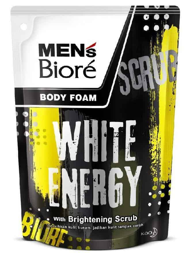 Men's Biore Body Foam White Energy