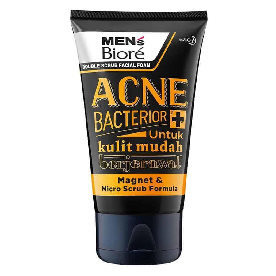 Men's Biore Double Scrub Acne Bacterior