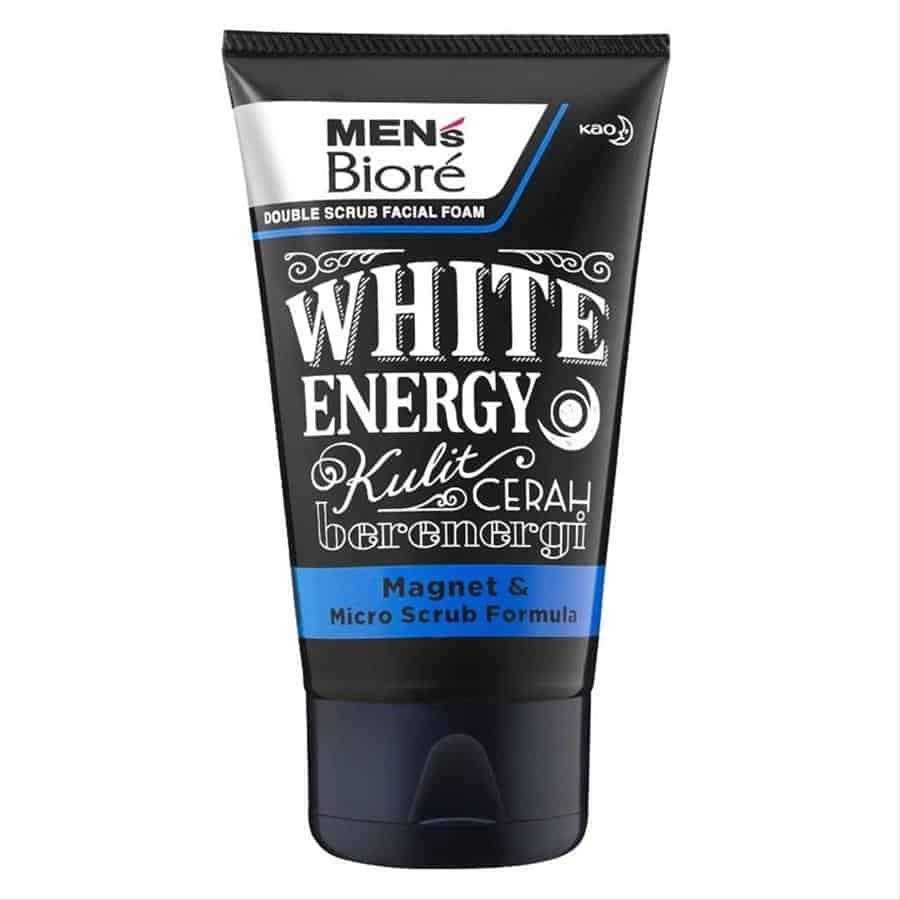 Men's Biore Double Scrub White Energy