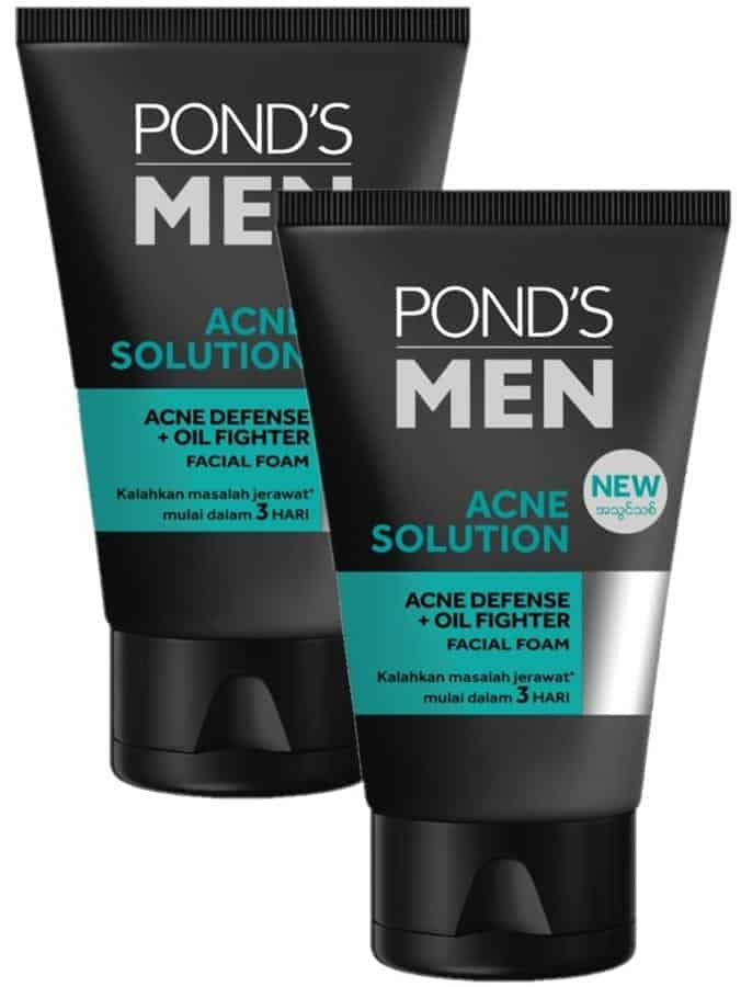 Pond's Men Acne Solution Acne Defense Oil Fighter Facial Foam